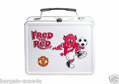 Manchester United Fred The Red Boys Football Tin Lunchbox Lunch Bags School Meal • 4.99£