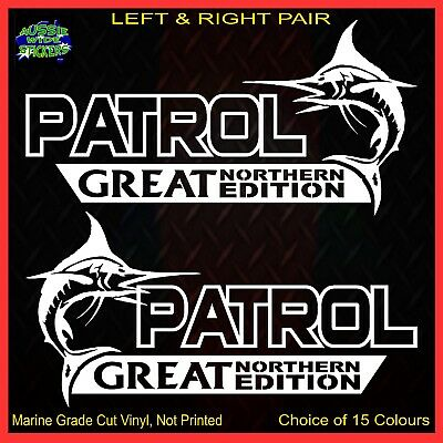 AU12.90 • Buy PATROL Stickers Accessories Ute Car MX Funny Decal GREAT NORTHERN 200mm PAIR