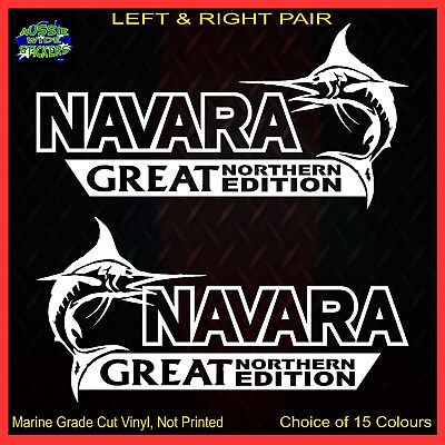 AU12.90 • Buy NAVARA Stickers Accessories Ute 4x4 MX Funny Decal GREAT NORTHERN 200mm PAIR