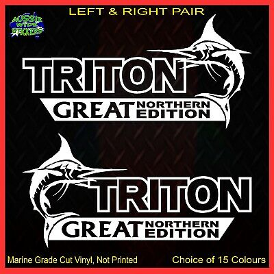 AU12.90 • Buy TRITON 4x4 Stickers Accessories Ute Car MX Funny Decal GREAT NORTHERN 200mm PAIR