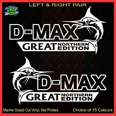 AU12.90 • Buy DMAX D-Max Stickers Accessories Ute Car MX Funny Decal GREAT NORTHERN 200mm PAIR