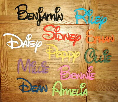 DISNEY Wooden Personalised Name Plaques Words/Letters Wall/Door Art/craft/Sign • 5.20£
