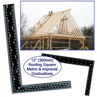 Metal Roofing Set Square 12 (300mm) X 8 (200mm) Metric Imperial Rafter Tri Wood  • 3.29£