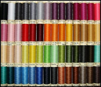 Gutermann Sew All 100% Polyester Cotton Sewing Thread 100m Spools Machine Hand • 21.29£