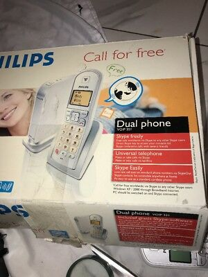 £29.08 • Buy Philips Cordless VOIP Phone Model VOIP 3211 In Box