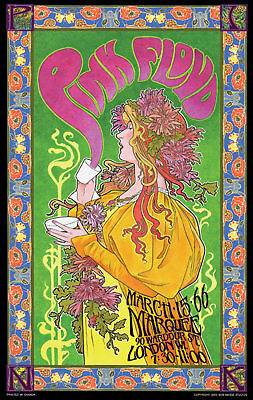 $19.97 • Buy Pink Floyd At Marquee, London WI 1966 Bob Masse 14 X 23 Inch Rock Concert Poster