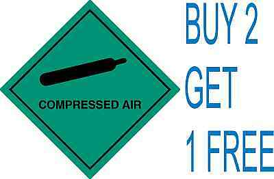 Compressed Air Warning Caution Sign Sticker Health And Safety 150mm • 1.99£