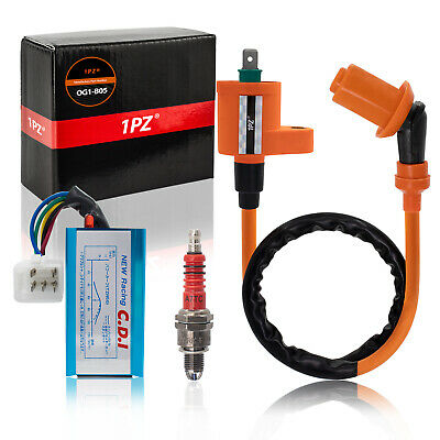 $14.99 • Buy Racing Ignition Coil CDI Spark Plug Gy6 Scooter Moped Dirt Bike 50cc 125cc 150cc