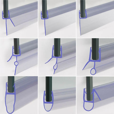 Bath Shower Screen Door Seal Strip For Glass Thickness 4 - 6mm Seal Gap 4 - 30mm • 4.99£