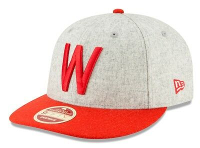 MEN/'S WASHINGTON SENATORS NEW ERA COOPERSTOWN COLLECTION WOOL 5950 FITTED NWT