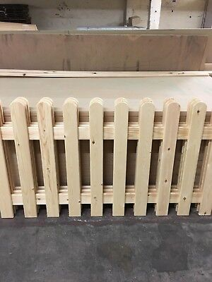 £39.99 • Buy Strong Picket Fence Garden Panels 6ftx3ft Planed Smooth X 1 PANEL