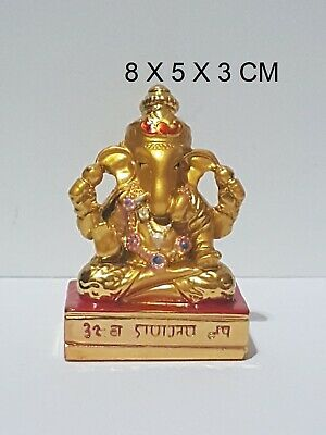 Ganesha Ganpati Ganesh Om Lord Hindu God Antique Colorful Idol Statue Car Office • 7.99£