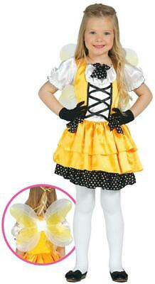 Girls Yellow Butterfly Fancy Dress Costume Insect Animal Childs Book Day Outfit • 14.49£