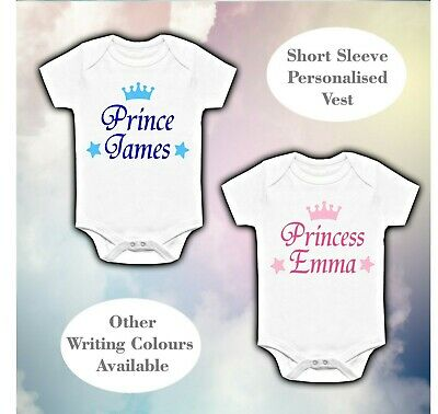 £6.99 • Buy Personalised Baby Vest Babygrow Clothing Shower Gifts Boy Girl Prince Princess