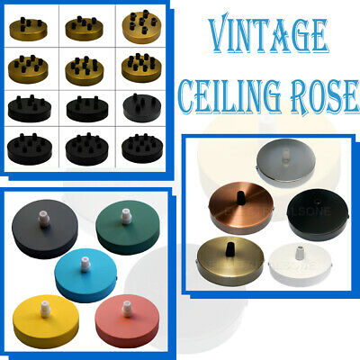 Vintage Ceiling Rose Pendant Cable Grip Flex Clamp Plate Light Fitting Outlet • 5.01£