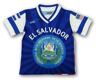 1fa5afabd New El Salvador Kids Youth Soccer Jersey USA Proud Shirt 100% Polyester •  24.99