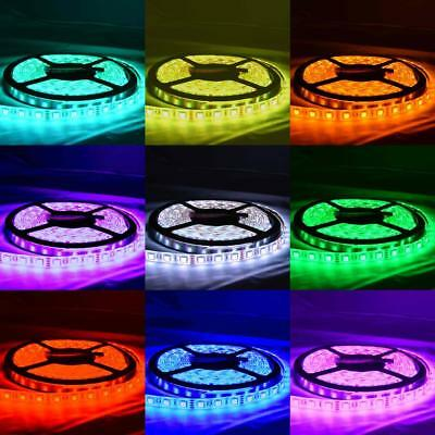 AU15.99 • Buy Waterproof RGB 12V 5M 5050 SMD 300 Leds LED Strip Lights Car Boat Caravan+Remote