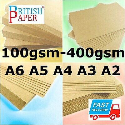 £0.99 • Buy A2 A3 A4 A5 A6 Brown Kraft Card Blank Thick Paper Cardboard Craft Tag Bag Labels