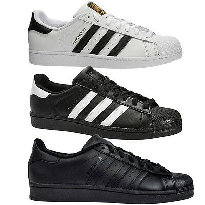 AU88.92 • Buy Adidas Superstar Trainers In 3 Colours Mens Womens Uk Sizes 7 To 12 White Black