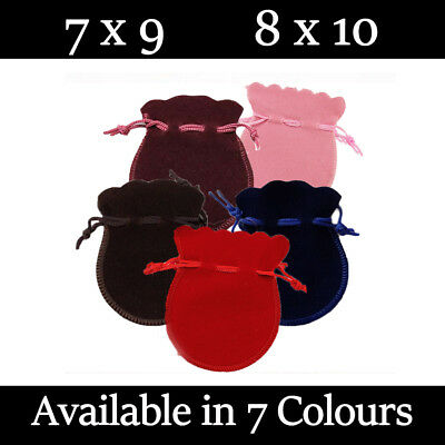 £2.49 • Buy Small Oval Velvet Gift Pouches Wedding Bag Jewellery Pouch 6 Colours & 2 Sizes