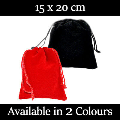 £2.09 • Buy 15 X 20 Cm Velvet Gift Pouches Wedding Favour Bags Jewellery Pouch In 2 Colours!