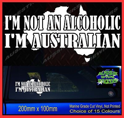 AU6.90 • Buy ALCOHOLIC Aussie Ytb BNS JDM 4x4 Ute Camping Car Funny Stickers 200mm