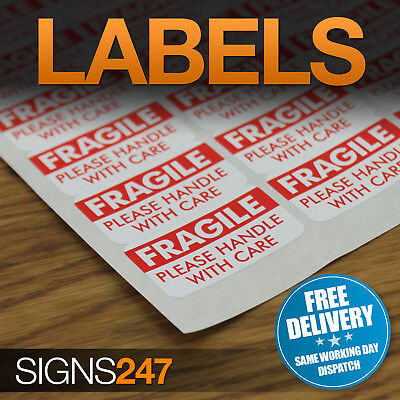 FRAGILE STICKERS - Self-Adhesive Labels Please Handle With Care • 2.49£