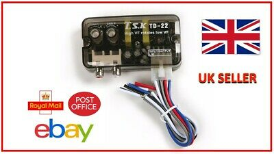 HCL101 2-Channel High To Low Level RCA Line Output Converter + Remote Turn On!!! • 14.99£