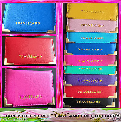 £2.49 • Buy Leather Oyster Card Travel Card Bus Pass Holder Wallet Rail Card Ticket Cover