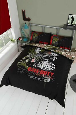£30.99 • Buy Call Of Duty WARNING Double Duvet Cover Bedding Quilt Set Gamers New Gift Boys