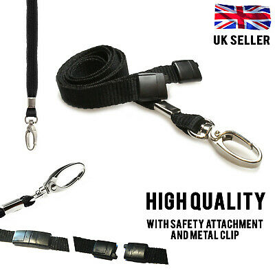 Lanyard Neck Strap With Metal Lobster Clip For Id Card Badge Pass Holder Lot • 1.95£