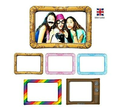 GIANT INFLATABLE PHOTO FRAME Selfie Booth Props Blow Up Hen Party Wedding NEW UK • 3.95£