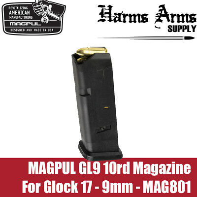 $17.99 • Buy Magpul Glock Magazine 10rd For Glock 17, 19x, 9mm Double Stack G17 MAG801