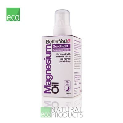 BetterYou Natural Magnesium Oil Goodnight Spray 100ml • 12.95£