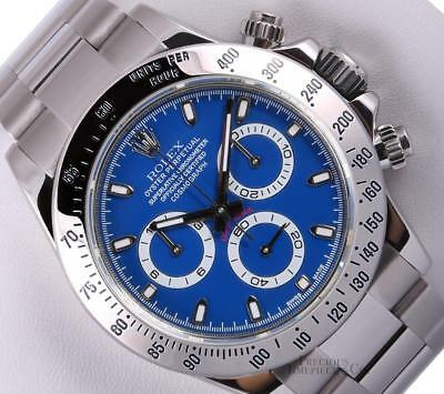 $ CDN27859.50 • Buy Rolex Men Daytona Chronograph 116520 Stainless Steel Oyster Blue Dial 40mm Watch