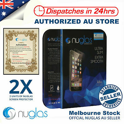 AU5.89 • Buy IPhone 8 7 6 5s Plus XS Max 2x NUGLAS Tempered Glass Screen Protector For Apple