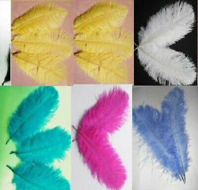 $7.69 • Buy Five 12-14  OSTRICH Feathers Choose MIX Or One COLOR Drabs Plumes Feather