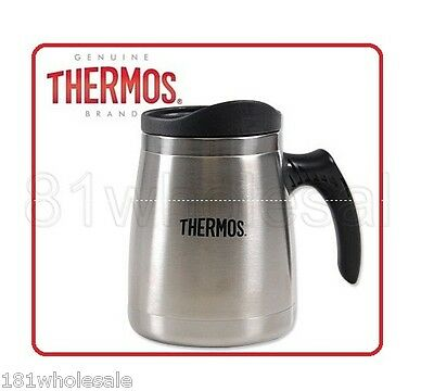 AU19.85 • Buy ❤ Thermos STAINLESS STEEL 450ml Wide Base Double Wall Mug Flask ❤