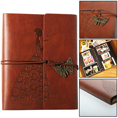 £8.59 • Buy 30 Page Photo Album Leather Scrapbook Gifts Vintage Albums Travel Holiday DIY UK
