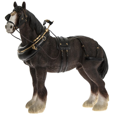 £12.99 • Buy Brown Clydesdale Shire Horse Statue Figurine Ornament BNIB Brown Shire Horse