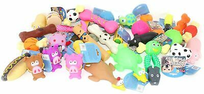 Bulk Pack Assorted Pet Dog Doggy Squeaky Chew Ball Rubber Fetch Toys • 11.95£