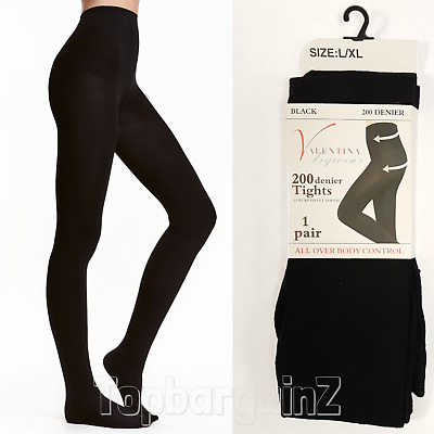 200 Denier Opaque Tights Ladies Extra Thick Soft Winter Warming Thermal Womens • 5.99£