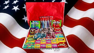 £9 • Buy American Sweets Gift Box - 68 Items Usa Candy Hamper (reduced From £10.25-£9.00)
