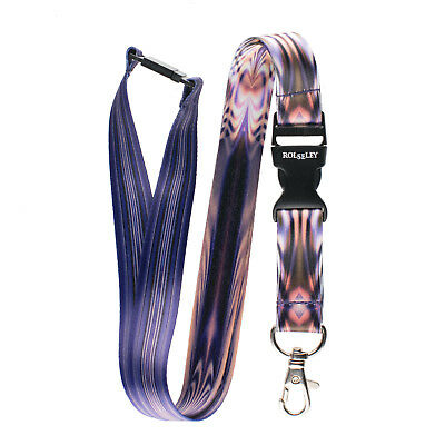 Multicolour PLASMA ABSTRACT Lanyard Neck Strap With Card/Badge Holder Or KeyRing • 3.49£