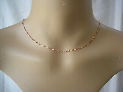Plain Silver Gold Or Rose Gold Plated Necklace Chain Quality 3mm Link Cable C2 • 6.99£