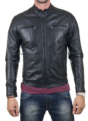 finest selection c518c afb23 Giacca Pelle Marrone Uomo