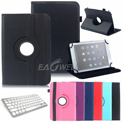 AU17.99 • Buy Universal Rotating Leather Flip Stand Case Cover For 7  Inch Android Tablet PC