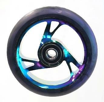 Scooter Wheel -  Alloy Metal Core - 125mm - ABEC 9 -  Anodised METAL HEAT • 24.86£
