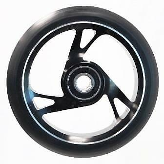 Scooter Wheel -  Alloy Metal Core - 125mm - ABEC 9 -  Anodised BLACK • 24.86£