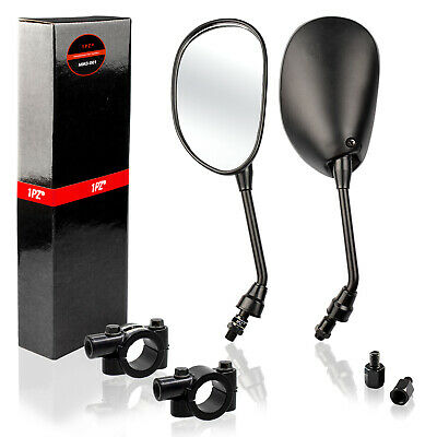 $22.99 • Buy Universal Motorcycle ATV Scooter 7/8  22mm Handle Bar End Rearview Side Mirrors